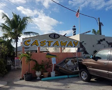Castaway restaurant sign