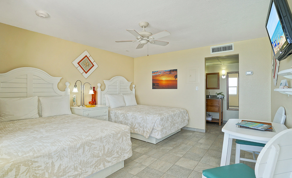Oceanfront double queen bedrooms