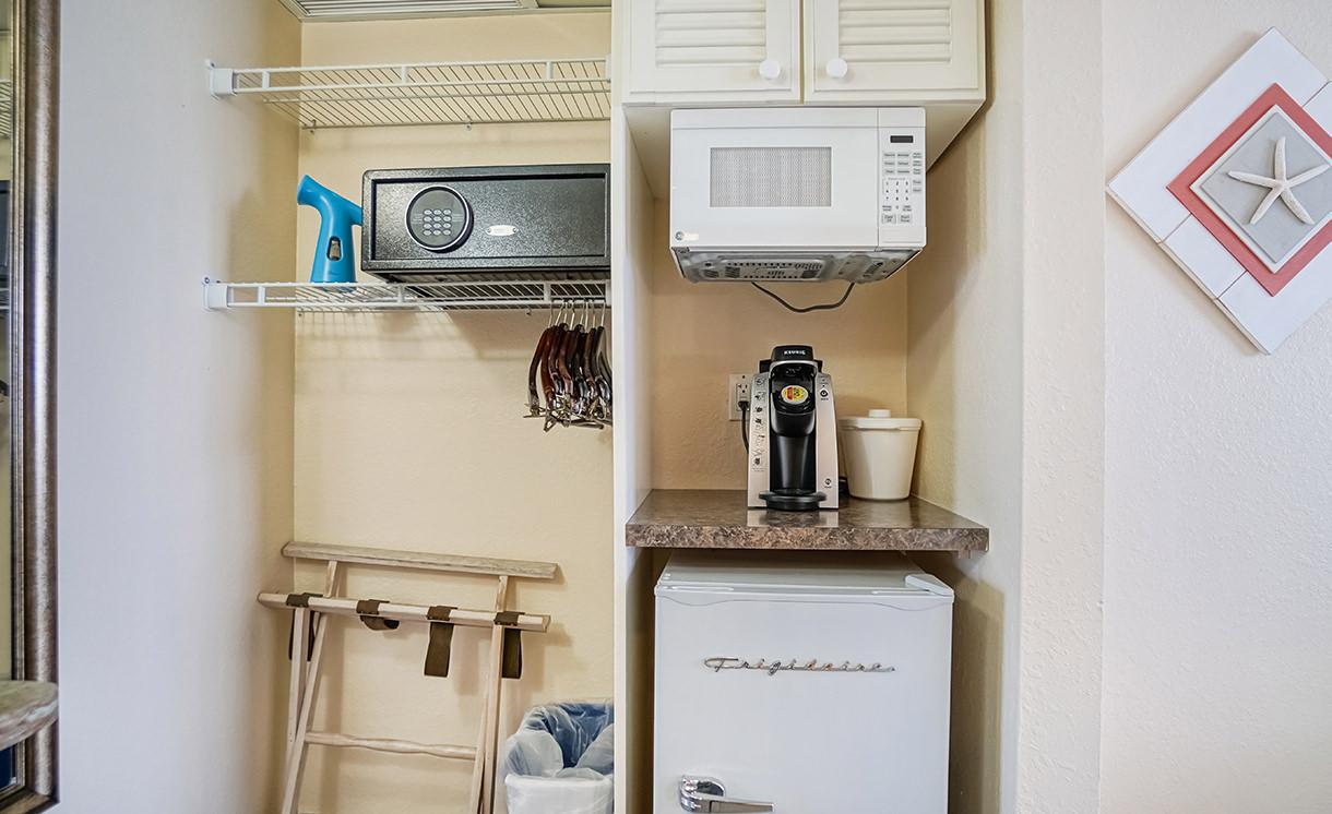 Closet, safe and pantry area